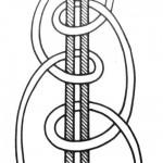 Двобічний вузлик у кружок