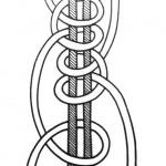 Подвійний двобічний вузлик у кружок