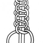 Шнур з подвійних плоских вузликів