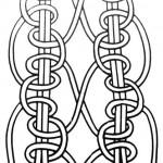 Вузлик подвійний з перевитою ниткою